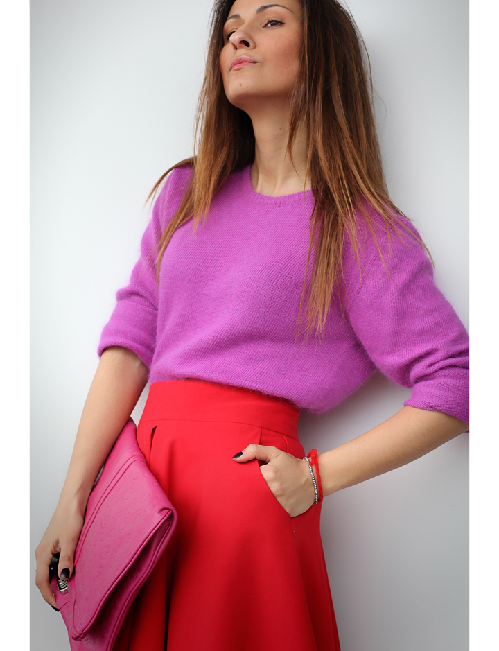 red and pink outfit by GalantGirl.com
