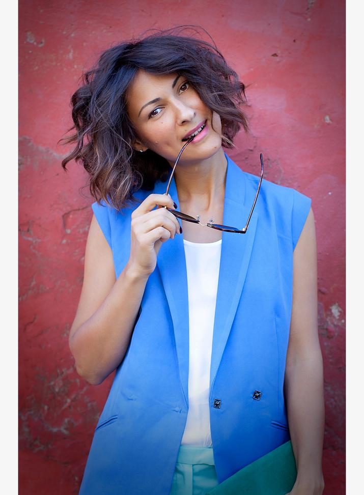 blue vest Kira Plastinina