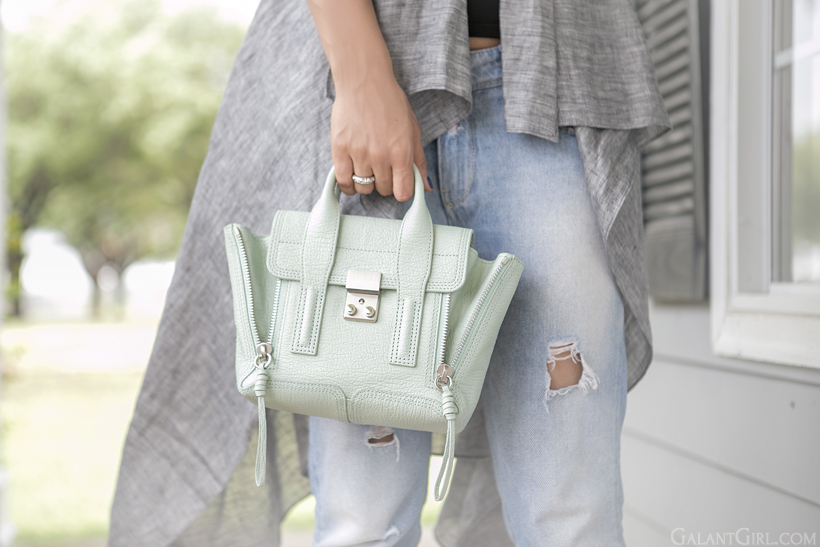3.1 phillip lim mini pashli mint color