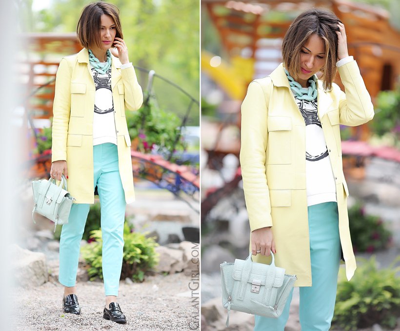 pastel outfit for spring with Diana Broussard by GalantGirl.com