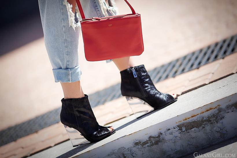 schutz wedged boots