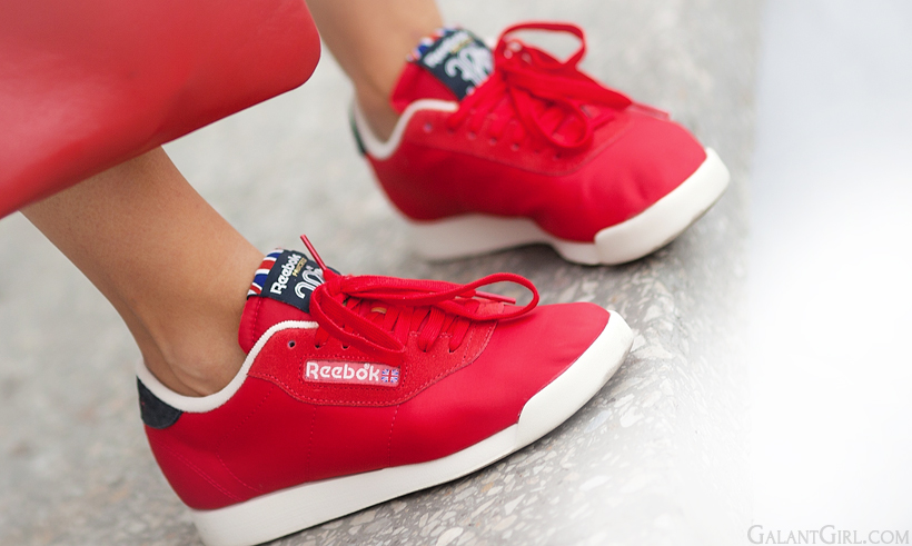 red sneakers Reebok