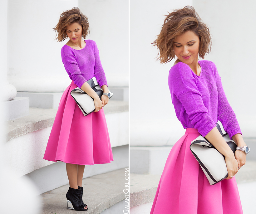 combining colors in styling the outfits.