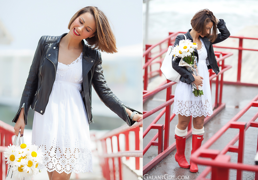 outfit for rainy weather by GalantGirl.com