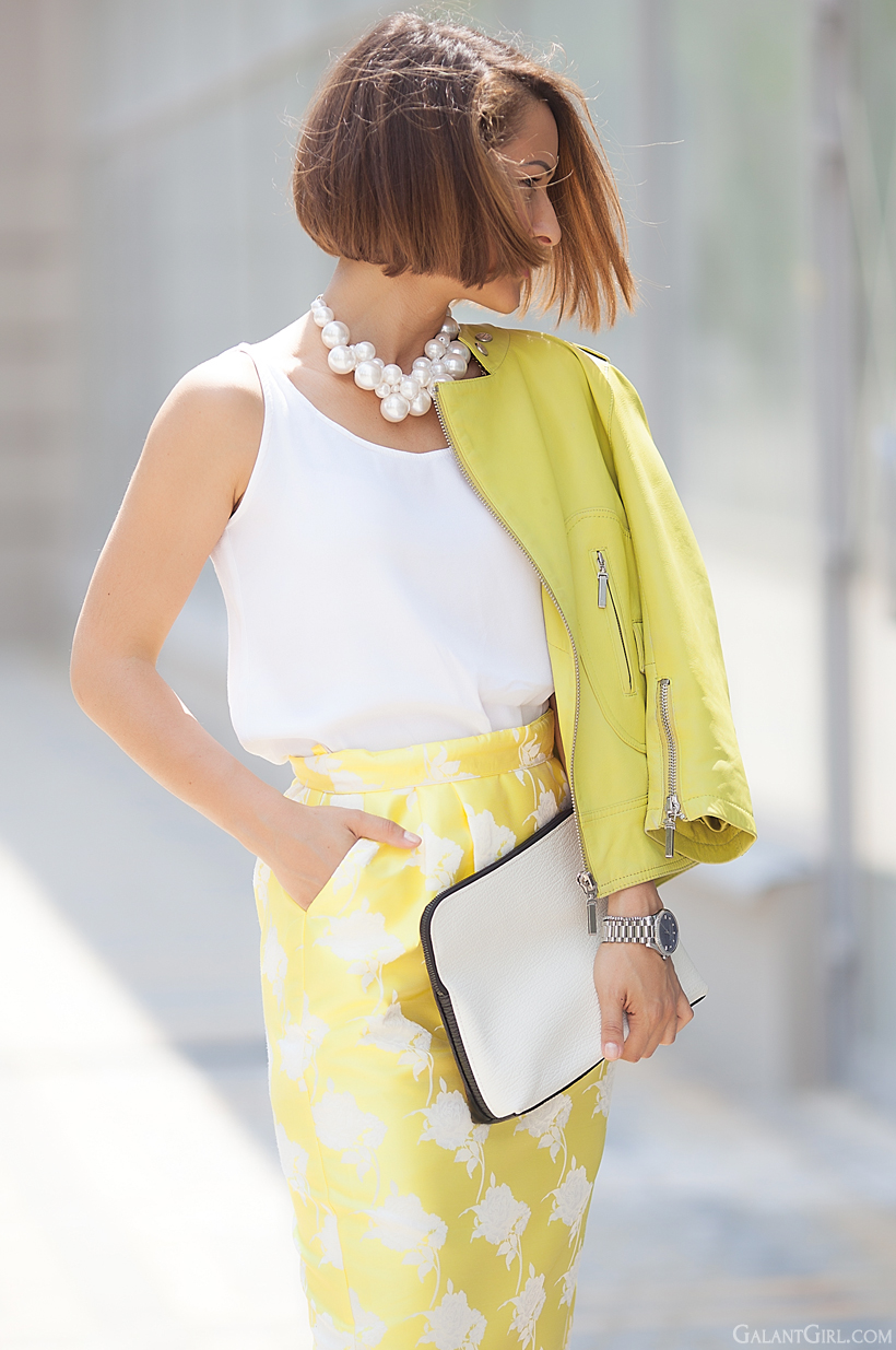 pencil skirt Asos and yellow pencil skirt