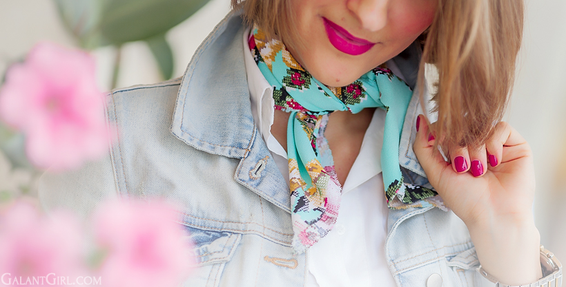 mint scarf by Galant Girl