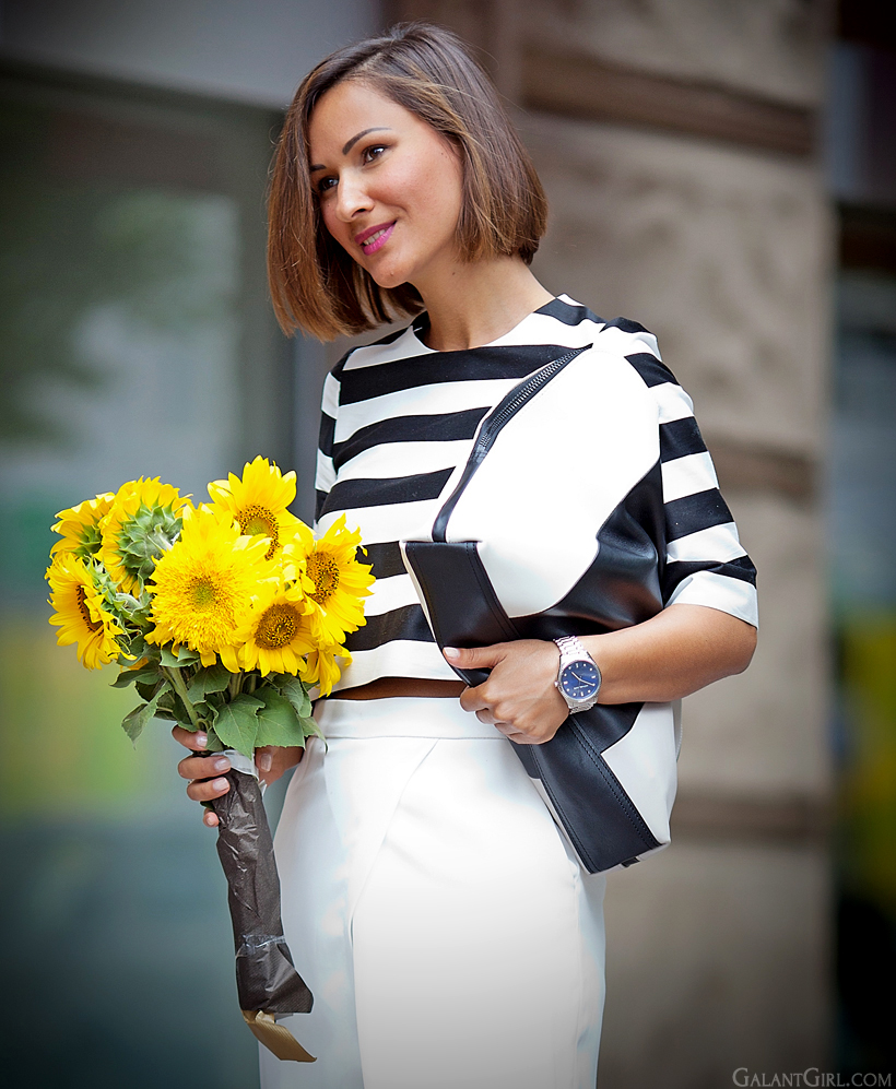 sunflowers and 3.1 Phillip Lim clutch