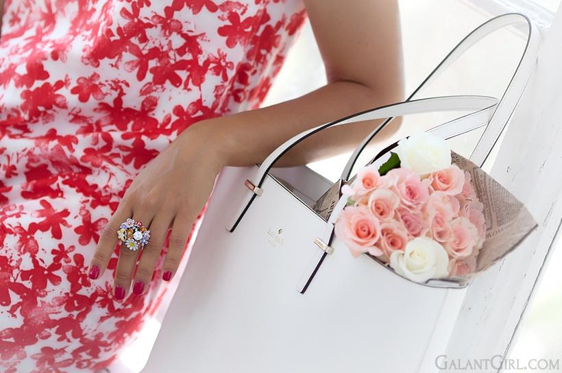 Dior ring Kate spade bag by GalantGirl.com