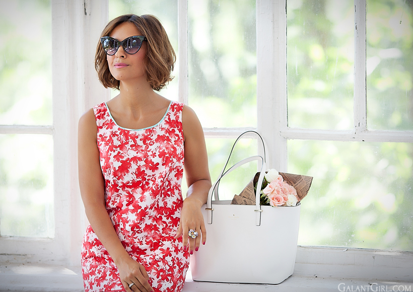 marella dress and Kate Spade bag by GalantGirl.com summer outfit