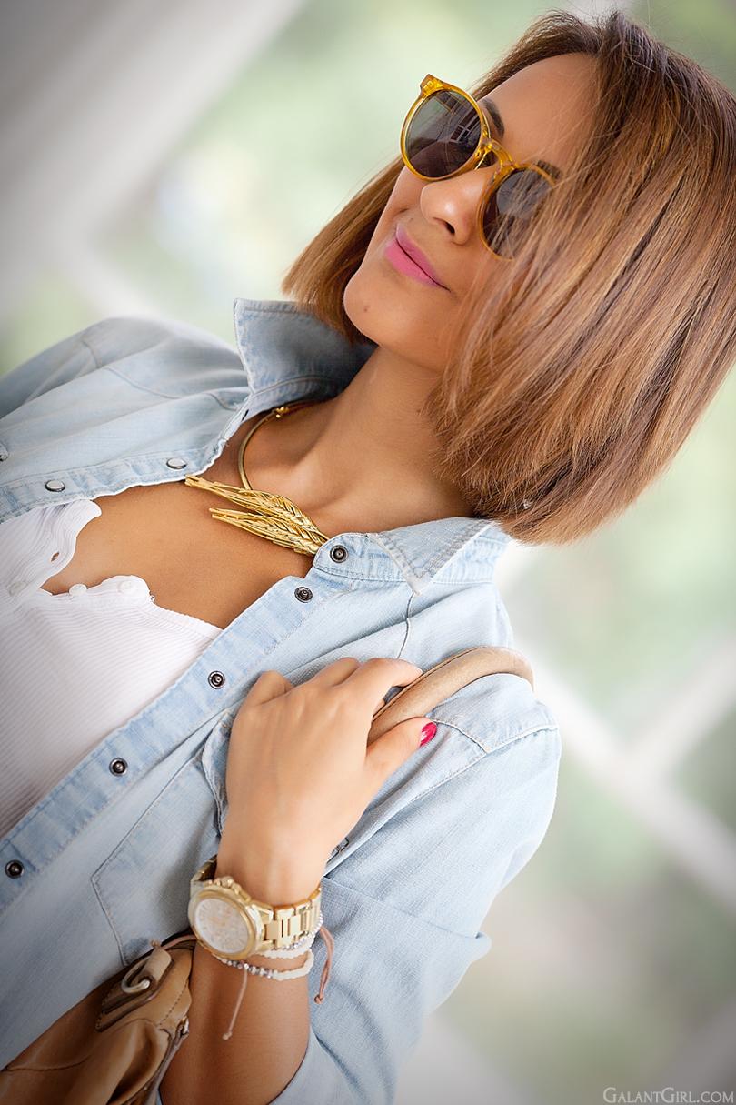 gold necklace Thallo