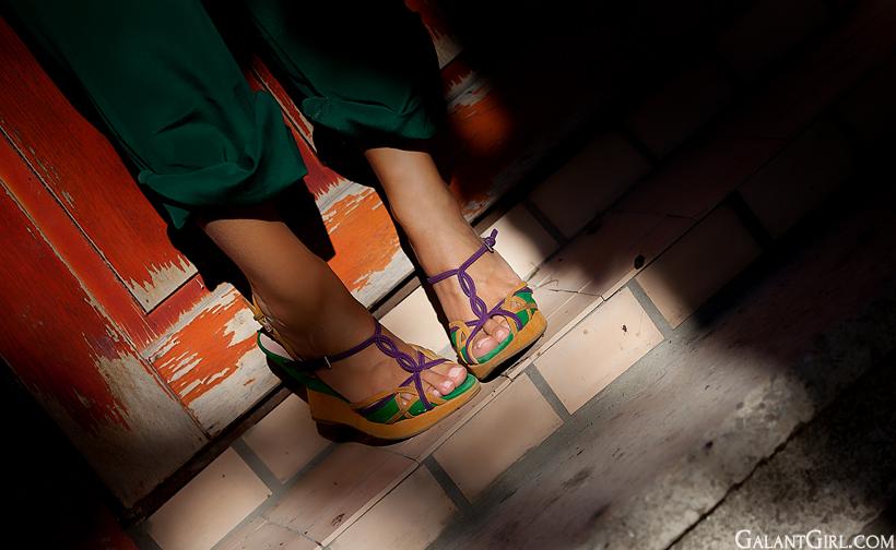 Prada wedged sandals