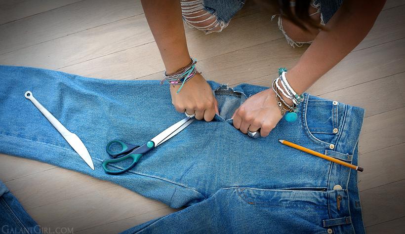 Порезанные джинсы своими руками 45