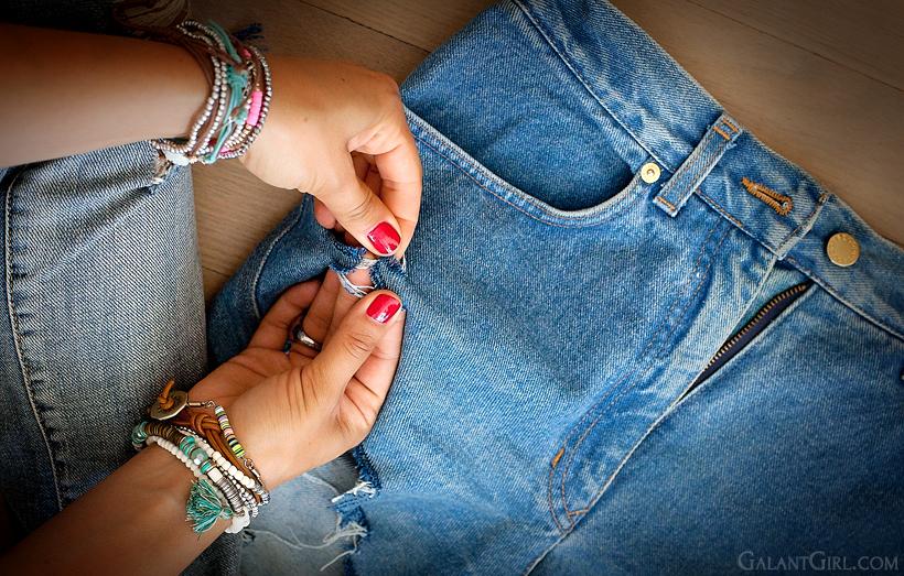 как сделать из джинсов шорты