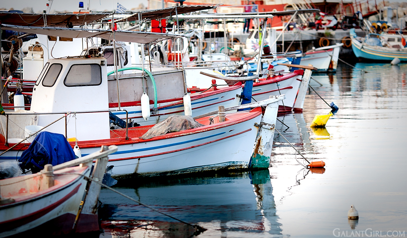 fishing boats in Platamonas, Greece