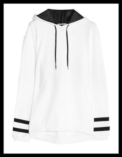 KARL LAGERFELD Samantha cotton-jersey hooded sweatshirt