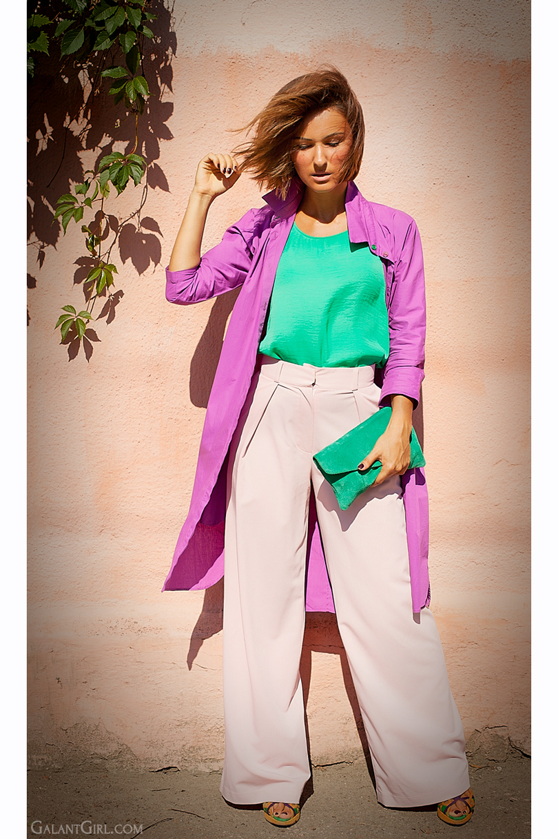 Color block outfit for summer 2014
