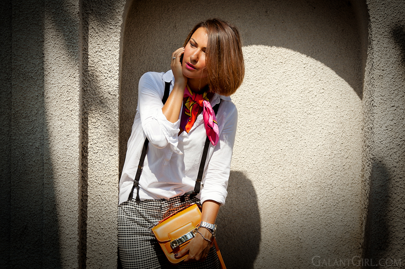 Coveri collection scarf and Proenza Schouler PS11 bag - summer outfit by GalantGirl.com
