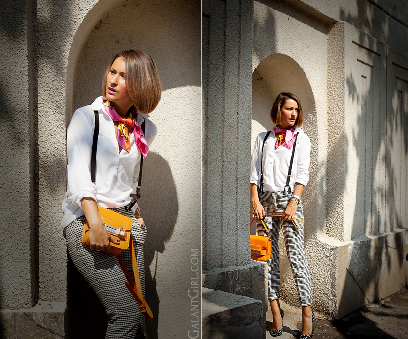 neck scarf Coveri Collection, Proenza Schouler PS11, braces - outfit by Galantgirl.com