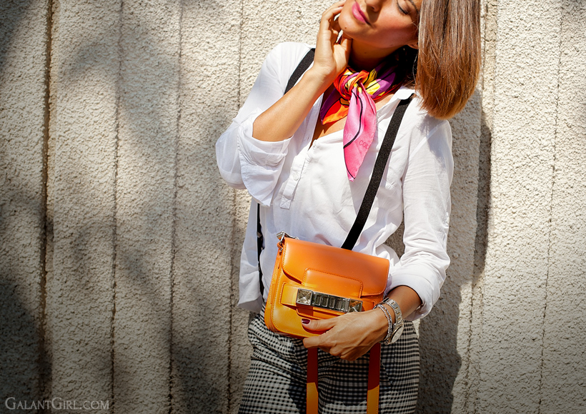 Proenza Schouler PS11 tiny bag and Coveri Collection scarf - summer outfit by Galantgirl.com