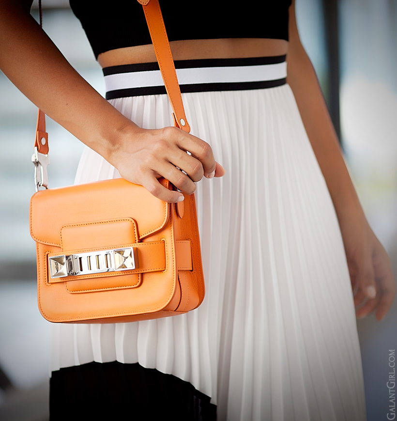 Proenza Schouler PS11 tiny orange bag by GalantGirl.com