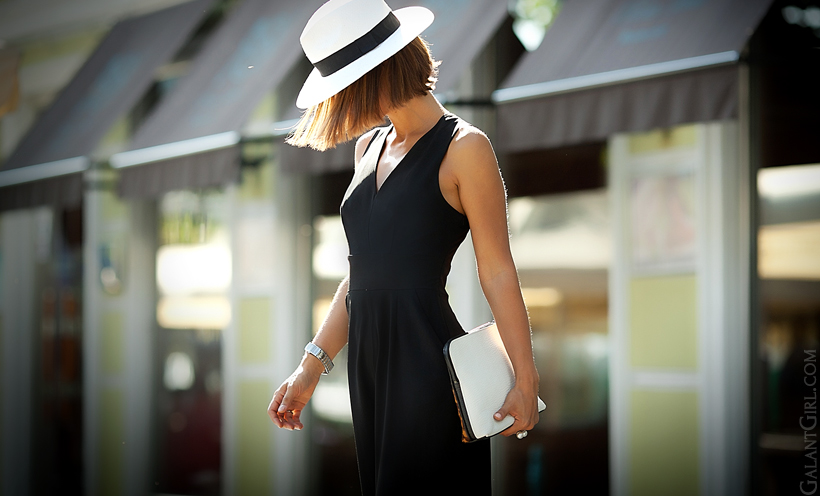 black jumpsuit Asos and 3.1 Phillip Lim 31 minute clutch by GalantGirl