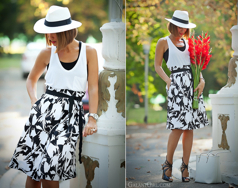 black&white summer outfit by GalantGirl.com