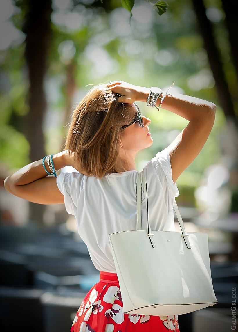 Kate Spade New York white tote bag