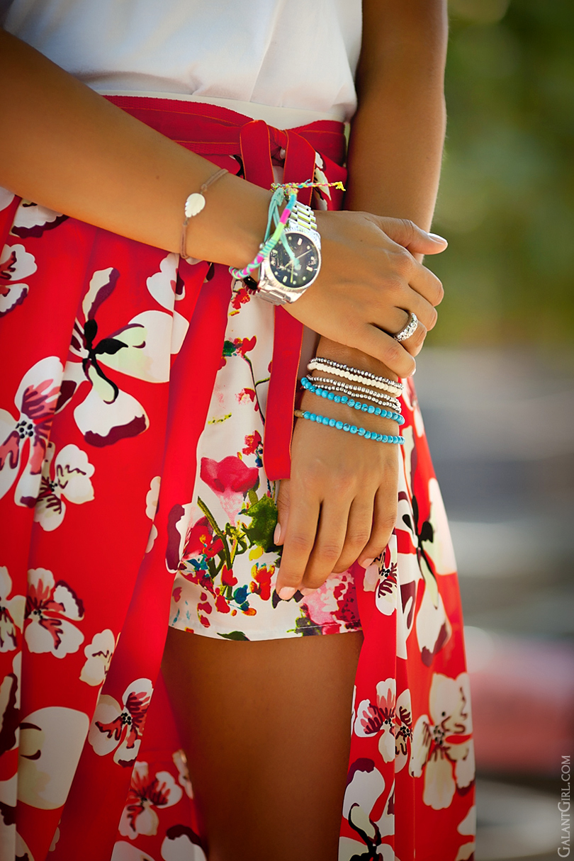 Michael Kors watch and arm party by GalantGirl.com