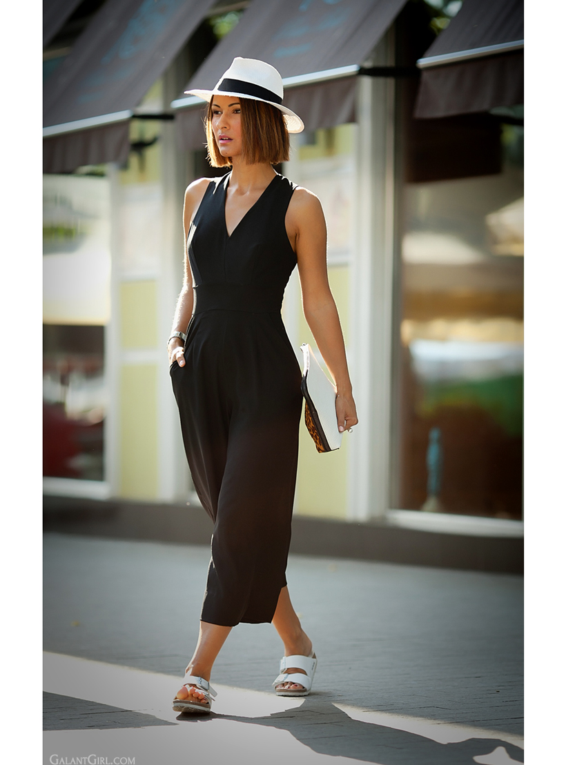 outfit with birkenstock and jumpsuit Asos by GalantGirl.com