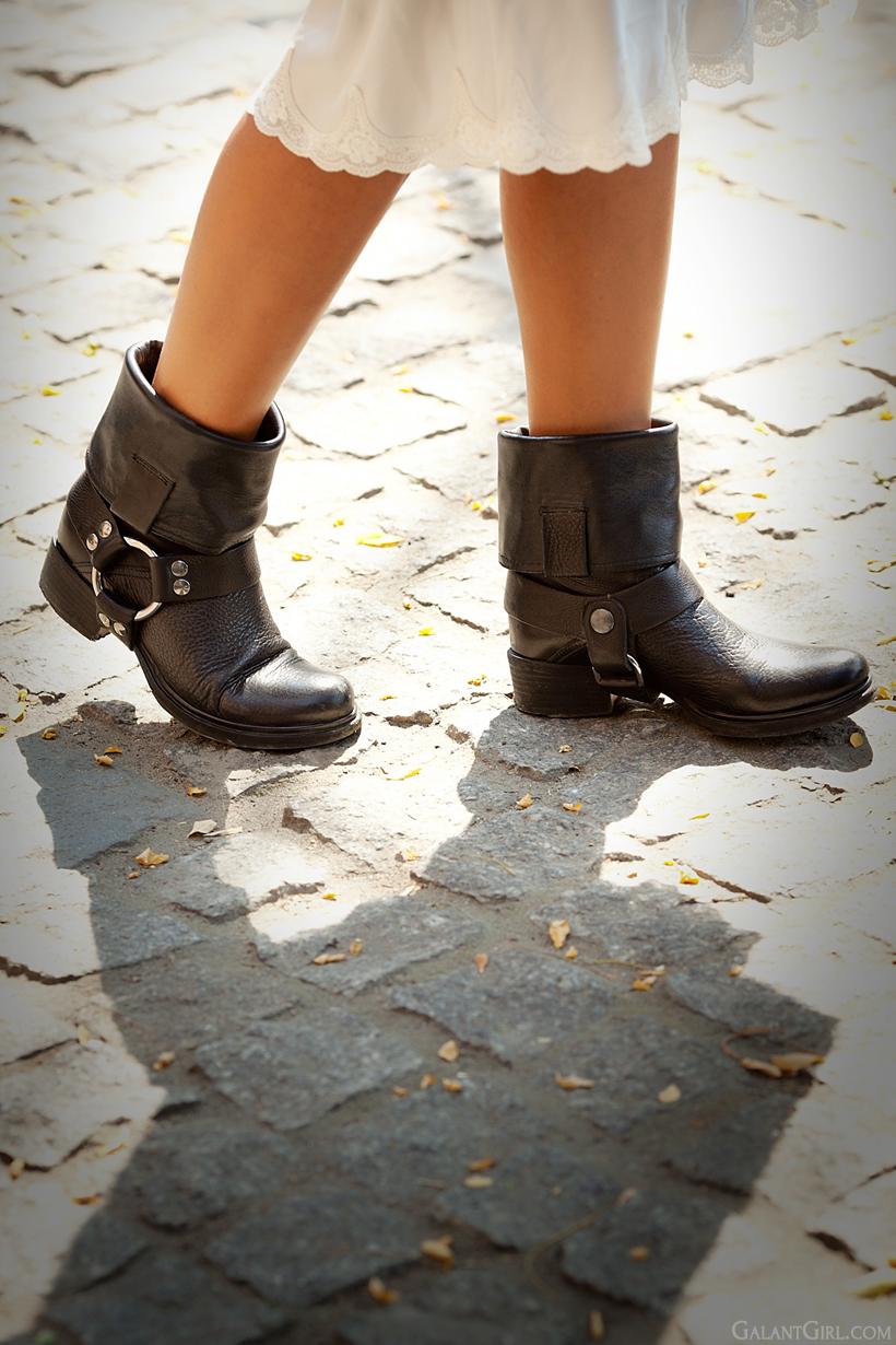 biker boots Miu Miu