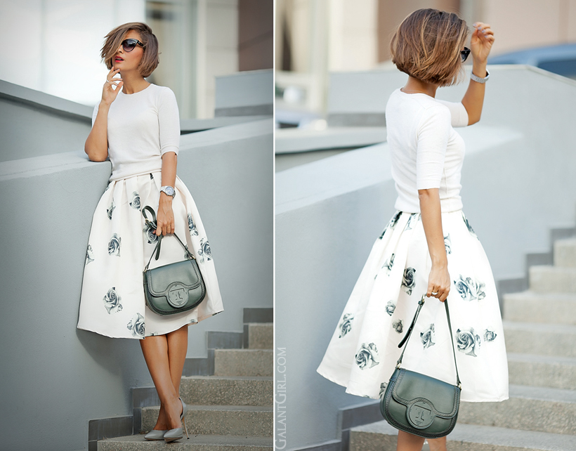 galant girl outfit with feminine skirt