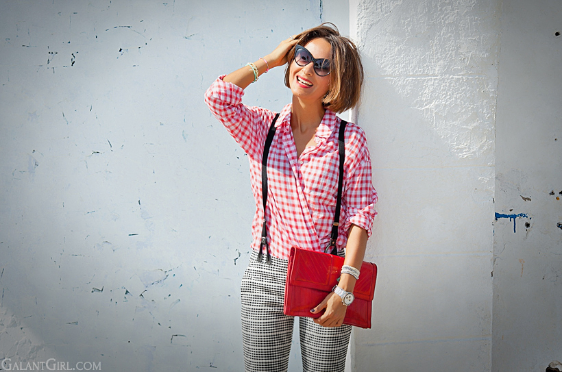 gingham shirt on Galant girl