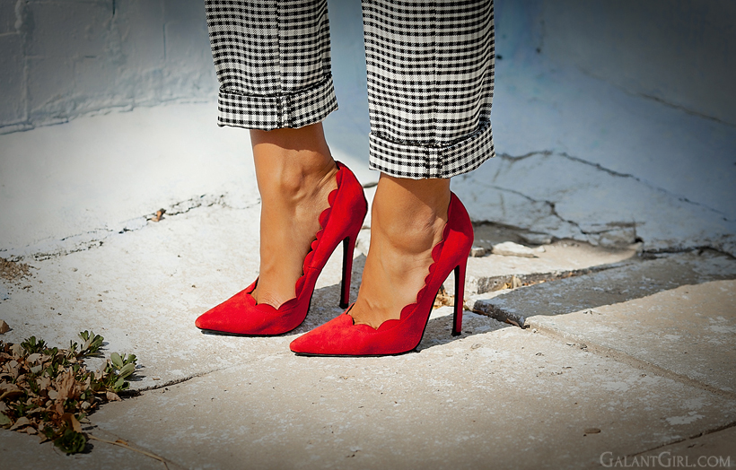 perfect red heels on Galant Girl
