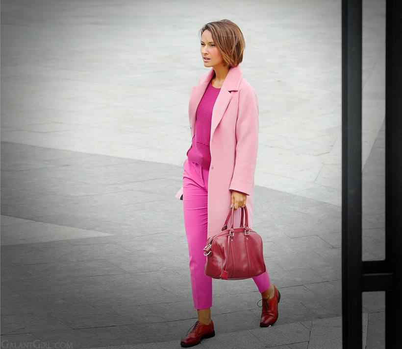 pink coat for fall 2014 on GalantGirl.com