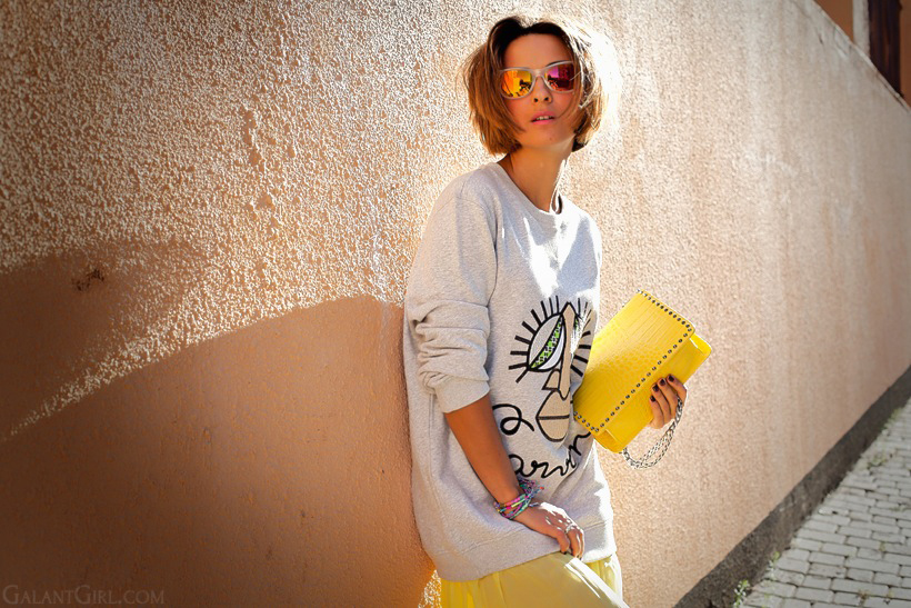 carven sweatshirt outfit by Galant Girl
