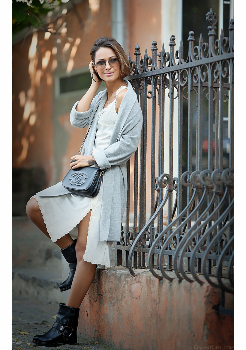 Blumarine lace dress and Chanel vintage bag by Galant Girl