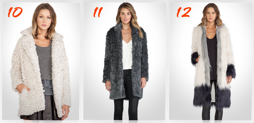 cute faux fur coat for winter 2014