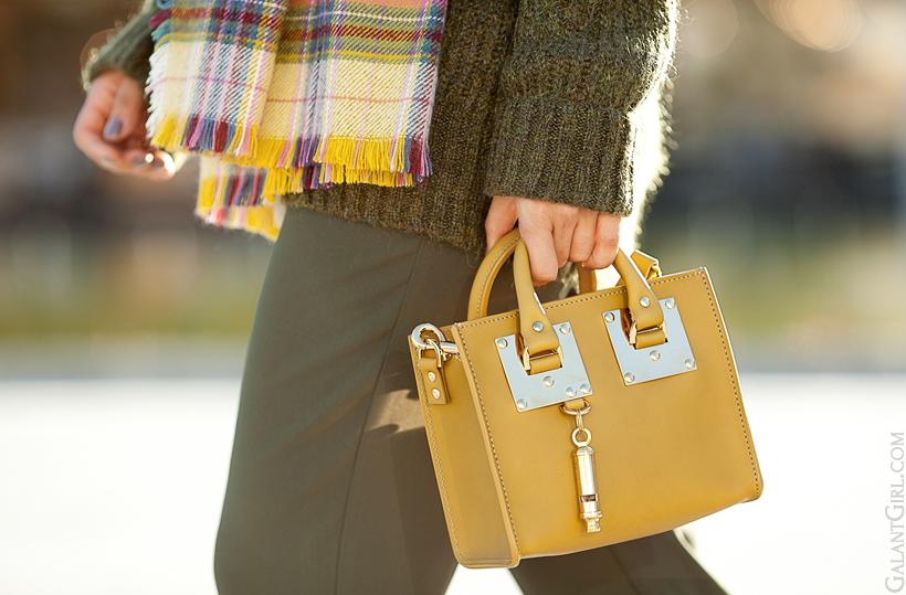 Sophie Hulme olive tote bag on GalantGirl.com