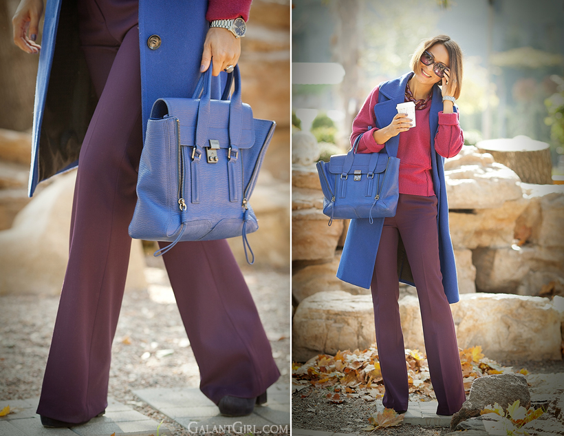 3.1 phillip Lim pashli medium blue satchel on GalantGirl.com