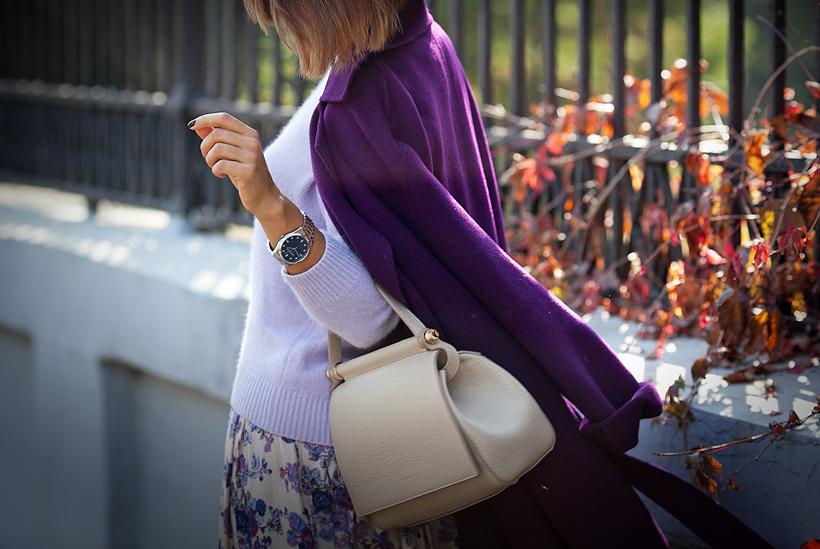 purple maxmara coat on GalantGirl.com