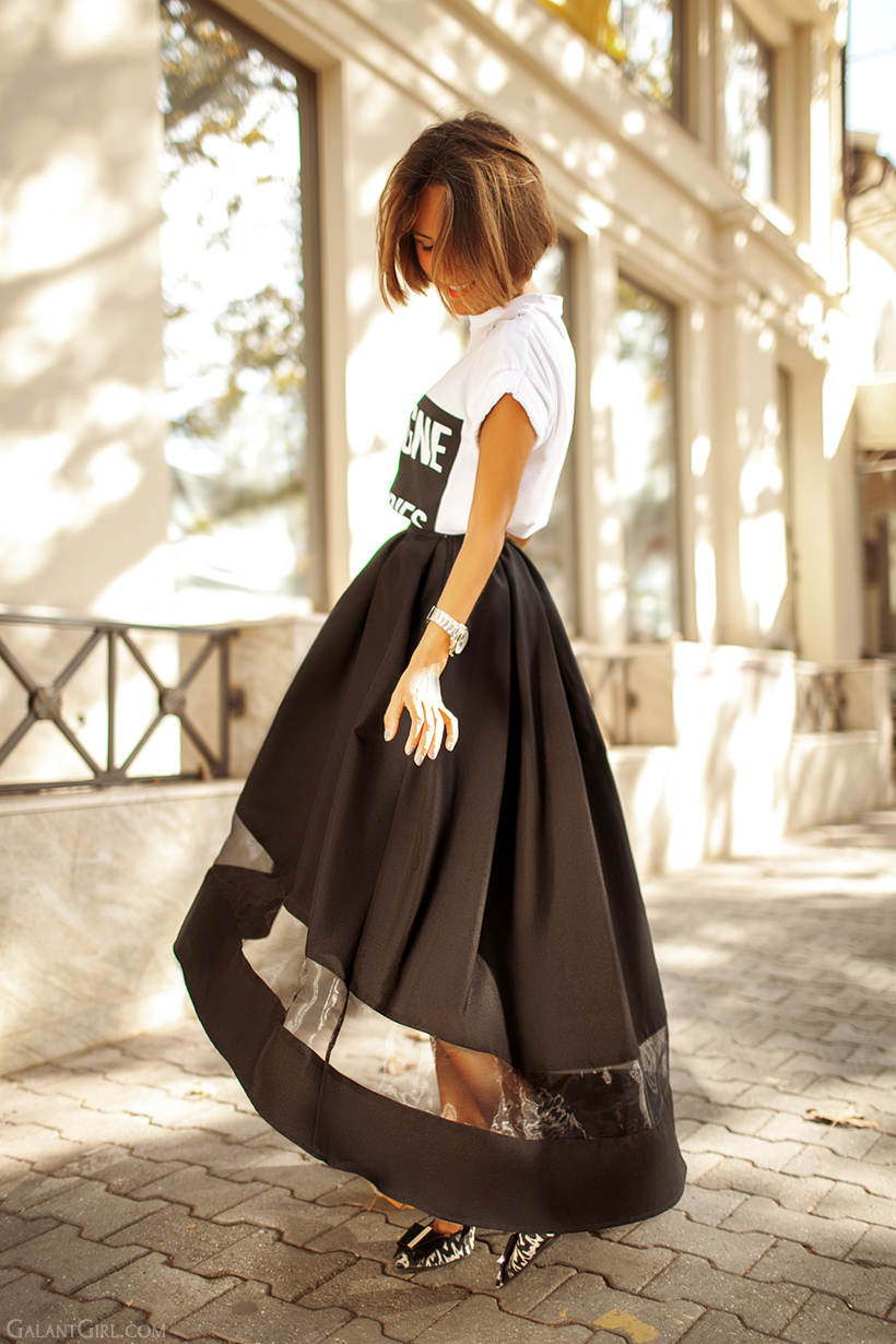 beautiful evening skirt on GalantGirl.com