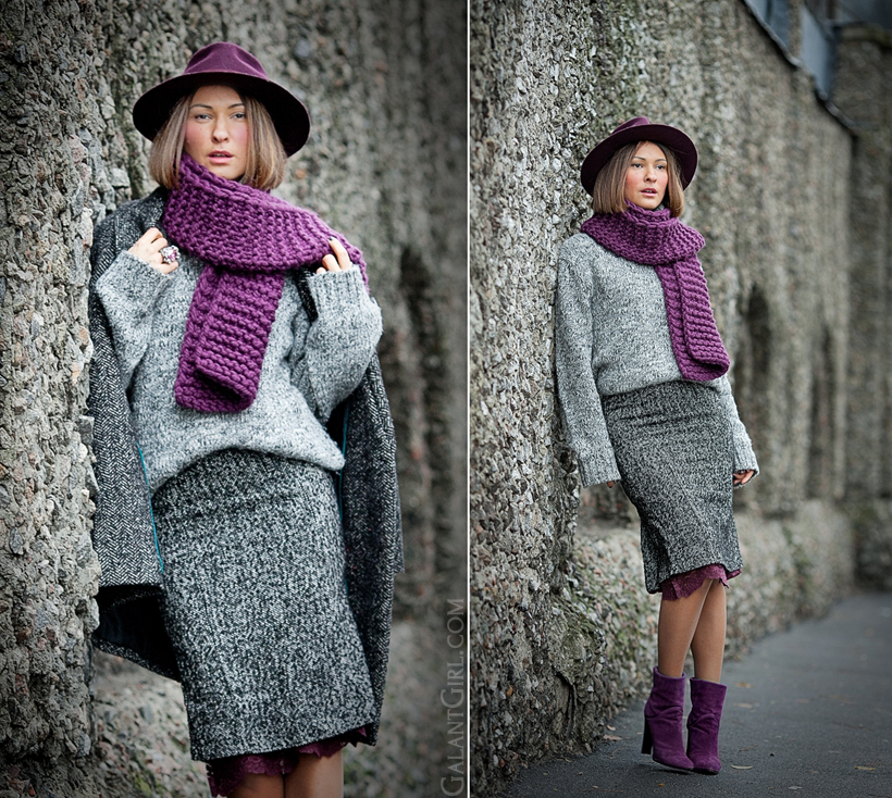 grey chunky outfit on Galantgirl.com