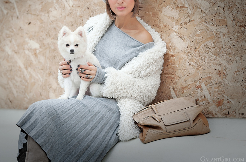 wool pleated skirt Line&Dot on GalantGirl.com