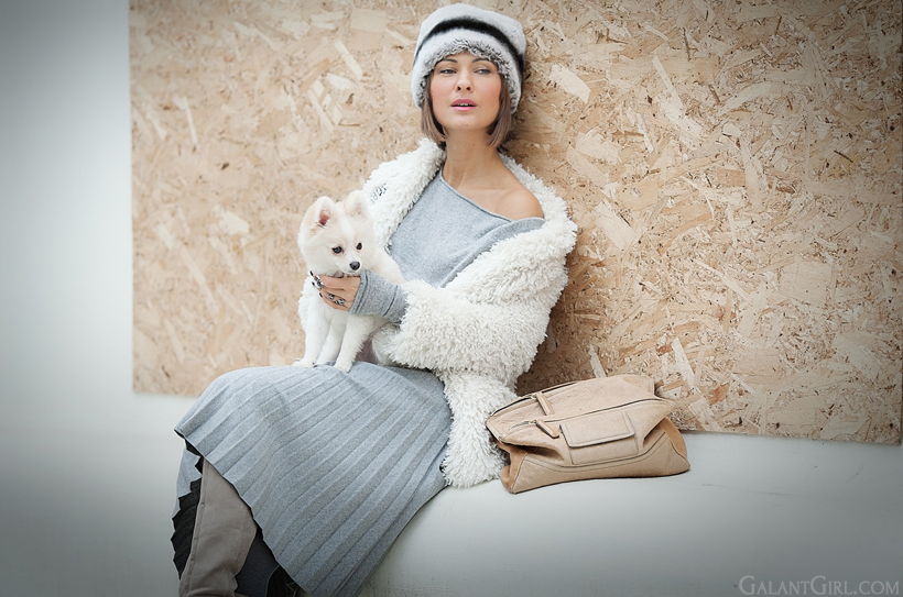 grey shades for winter outfit on GalantGirl.com