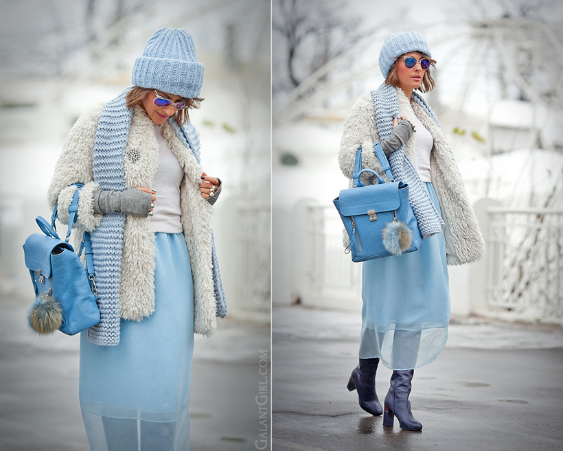blue winter outfit 2014 on GalantGirl.com