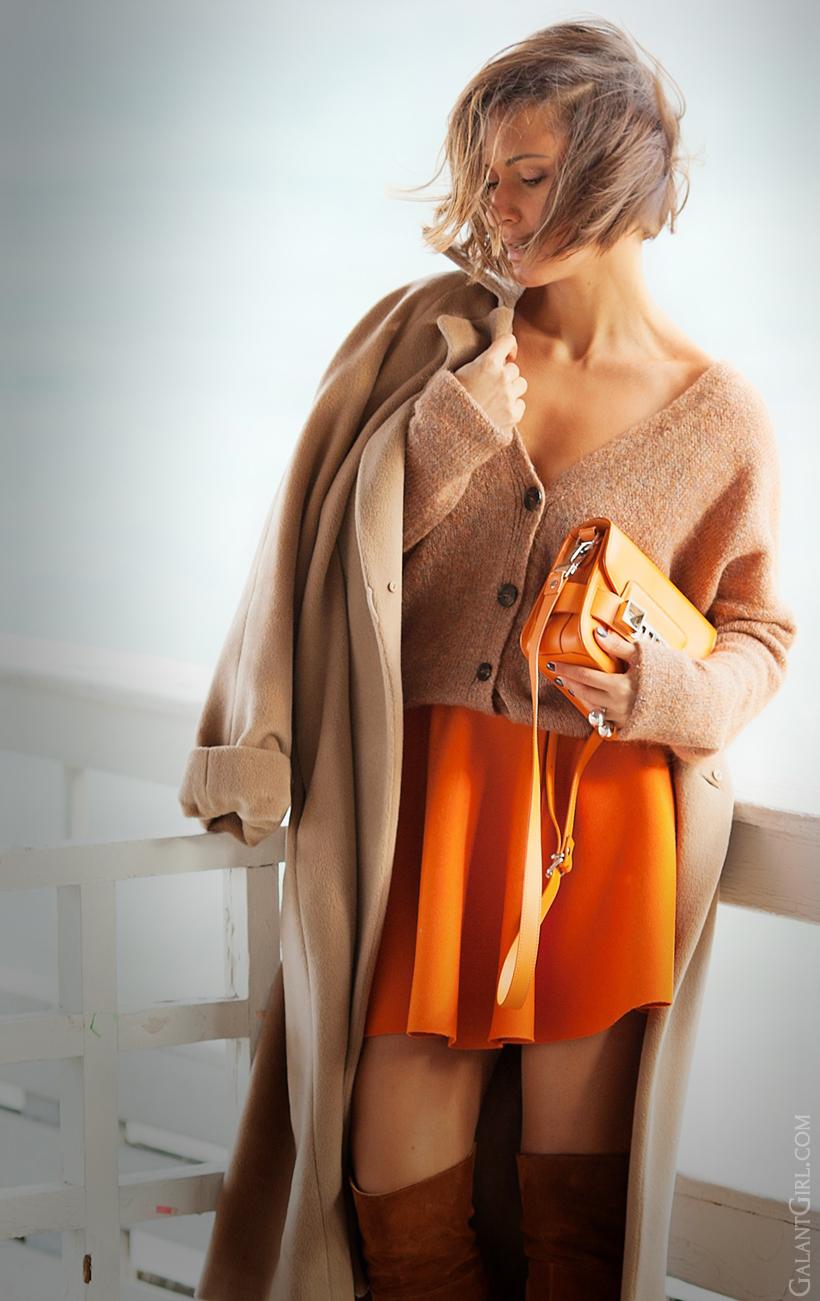 proenza schouler PS1 tiny orange bag on GalantGirl.com