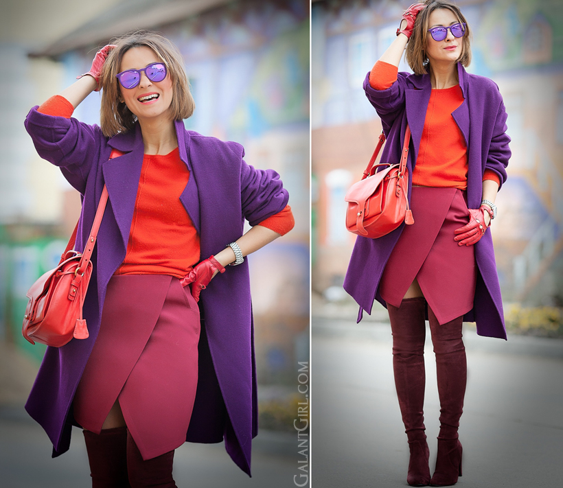 crazy color mix for winter on GalantGirl.com