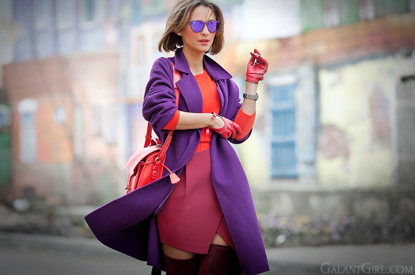 purple max mara wool coat