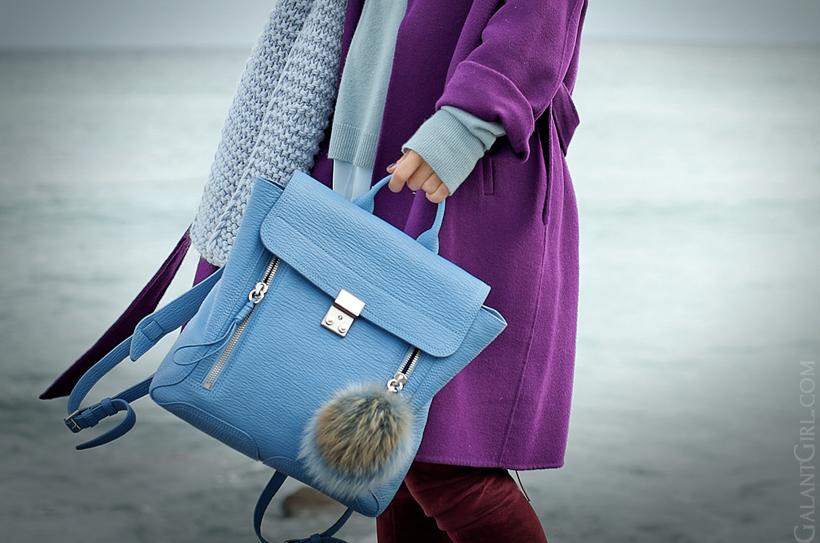 3.1 phillip lim pashli blue backpack, galant girl