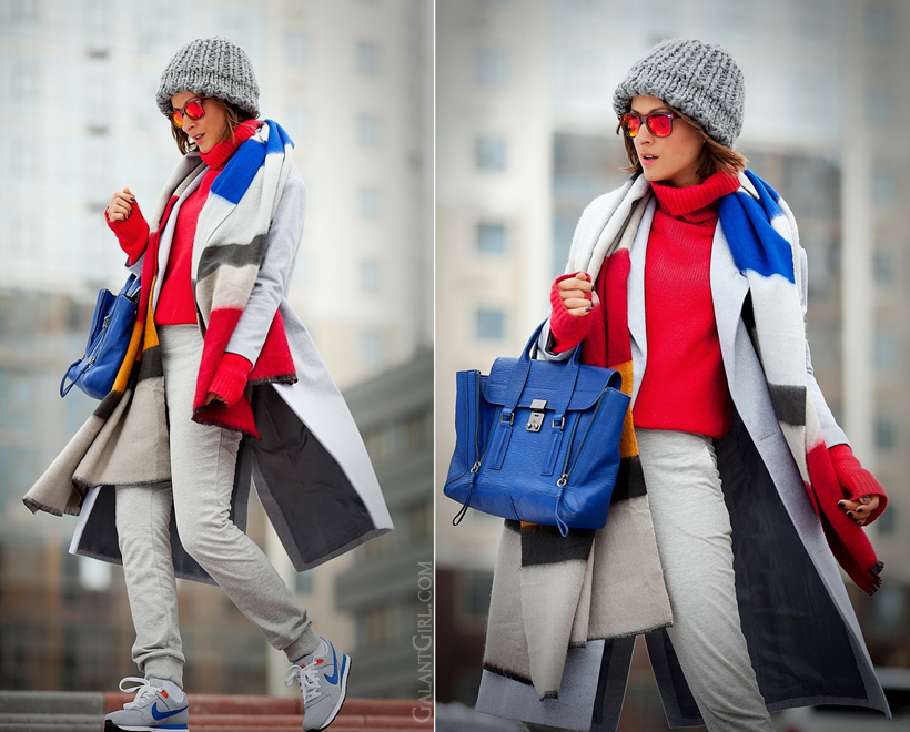 winter casual outfit for weekend, Galant Girl, 3.1Phillip Lim, track pants outfit,